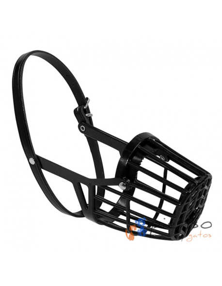 Bozal cesta negro plástico