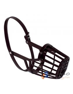 Bozal cesta marrón plástico
