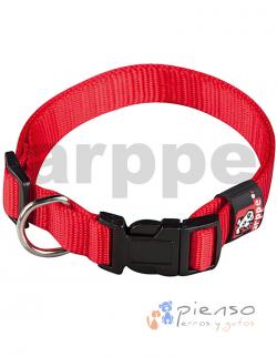 Collar ajustable de nylon rojo básico