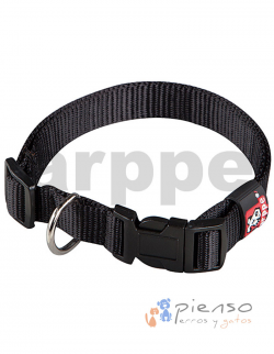 Collar ajustable de nylon negro básico