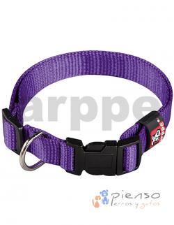 Collar ajustable de nylon púrpura básico