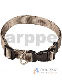 Collar ajustable de nylon verde oliva básico