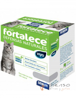 Complemento alimenticio para gatos adultos Viyo Fortalece ® Senior