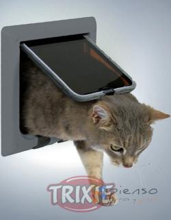 gatera trampilla para gatos de 4 posiciones en color gris